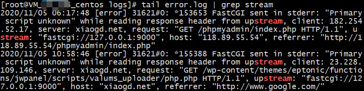 tail grep key word demo